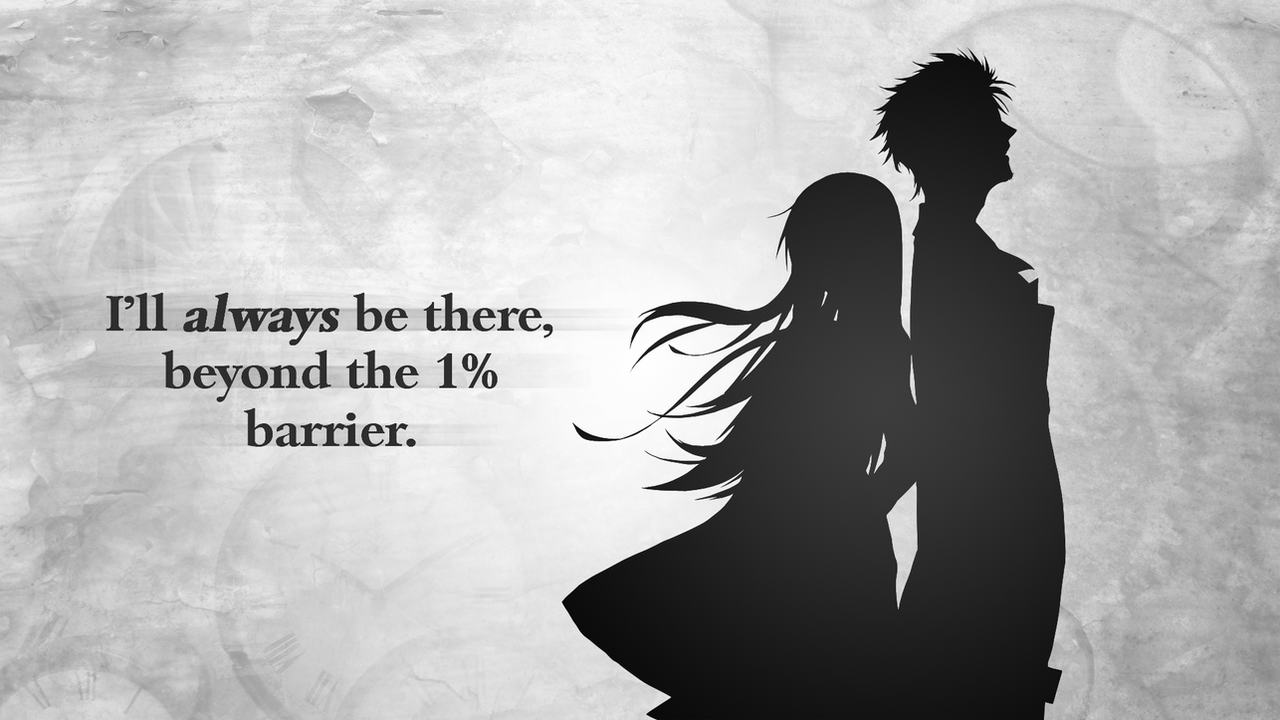 Steins Gate Wallpaper Okabe And Kurisu By