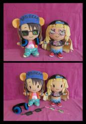 Misaki and Kokoro (BanG Dream!) Dolls