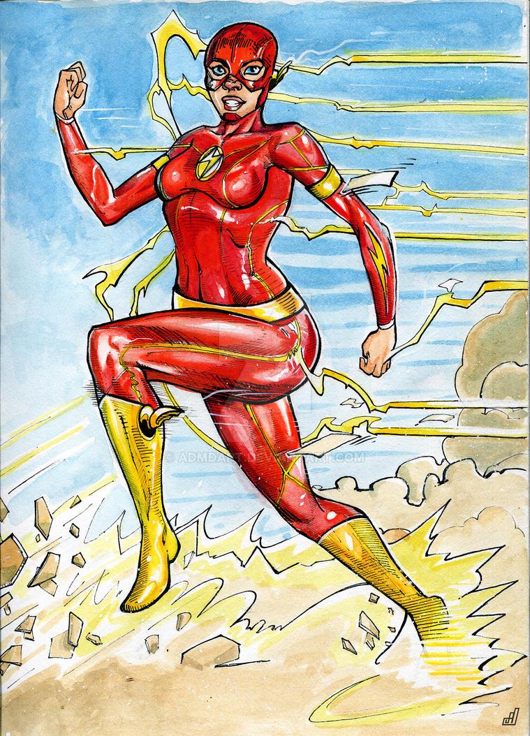 Female Flash by ADMDArt