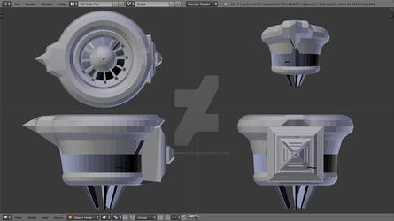 BioCorp Ship Engine WIP (Learning Experience)