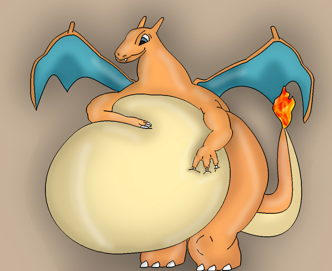 Fat Charizard by DragonFeeder