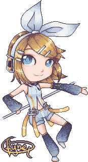 Kagamine Rin Append chibi by Fyne-Q