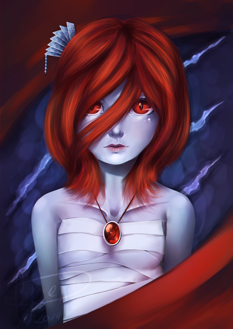 Red doubt, Blue mystery by Fyne-Q