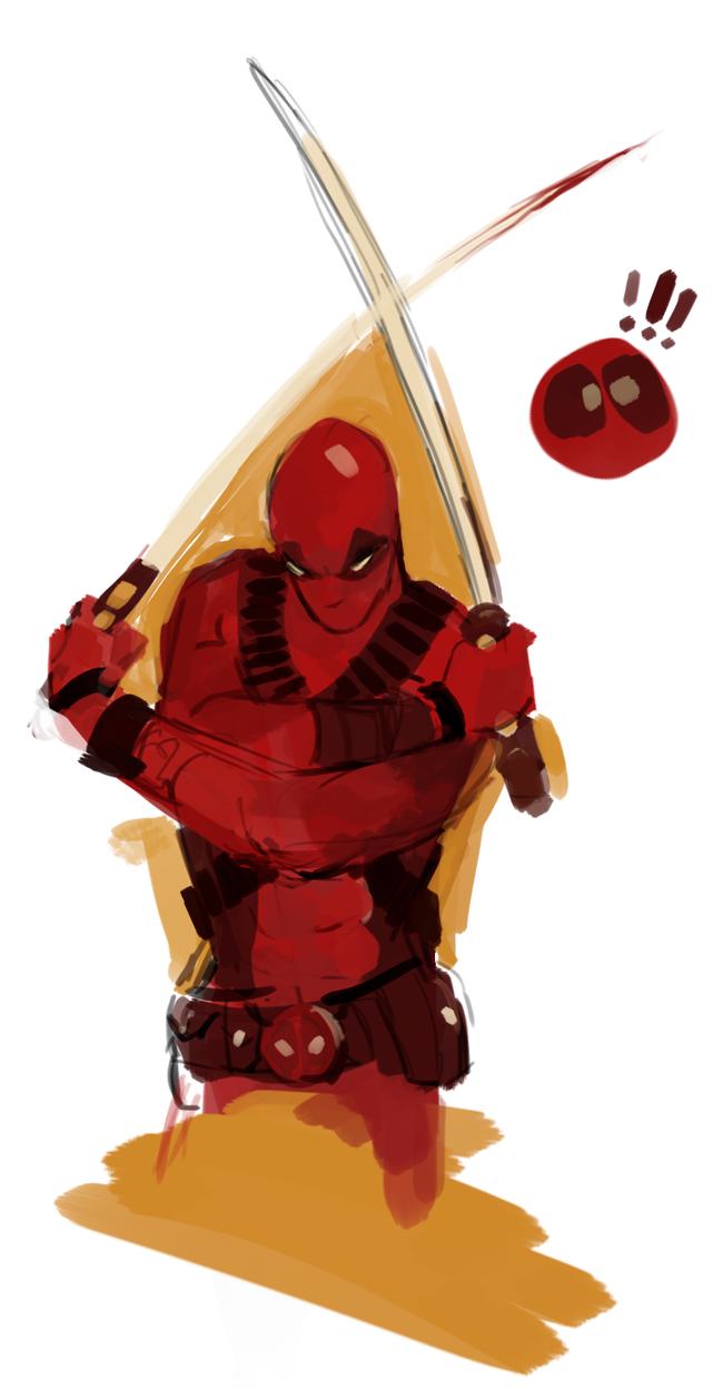 Deadpool doodle by carriehankins