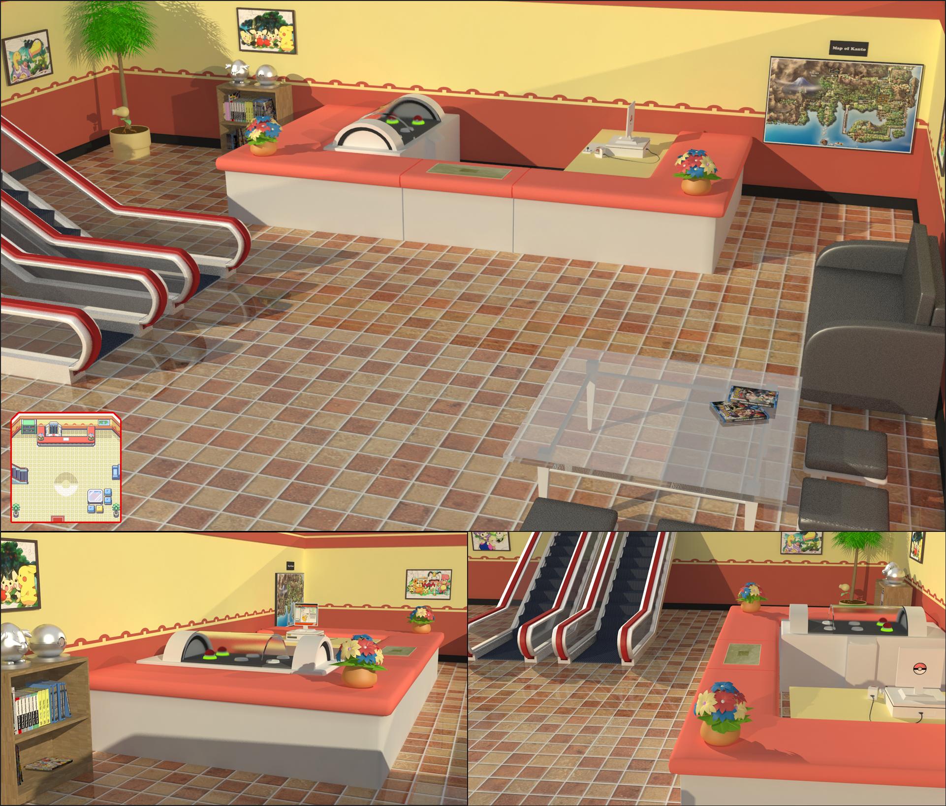 3d Pokemon Center By Tribalise On Deviantart