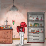 Invisible girl in Lab