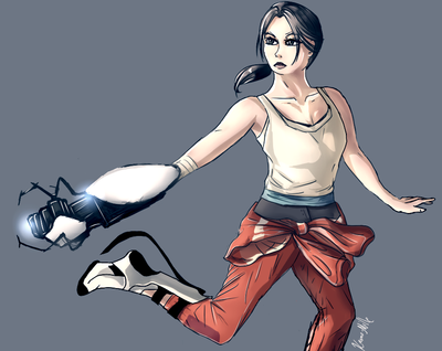 Chell by Kamo-Mille