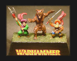 WARHAMMER Landsknechts And Bear by Kaal979
