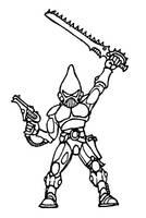 warhammer 40000 eldar striking scorpion warrior by Kaal979