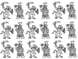 Warhammer Dwarf Vs Skaven Colouring Template by Kaal979