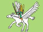 WoodElves Sorceress on Pegasus