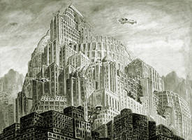 Metropolis Wallpaper with Depth Effect V2 by Kaal979