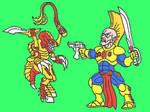 eldars vs tyranids coloured v7