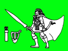 warhammer mordheim woodelf ranger mercenary by Kaal979