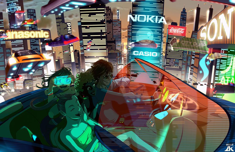 Enjoying the Future by AlexKnight