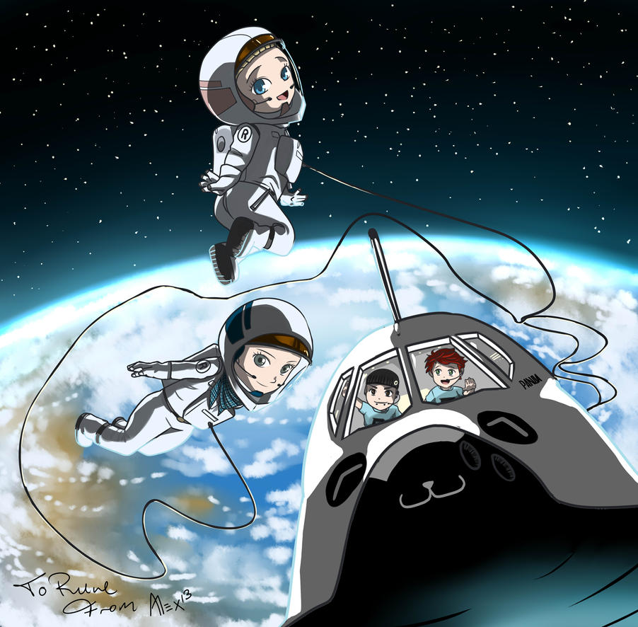 rune characters in space by alexknight on deviantart