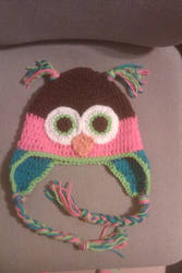 Crochet Owl Hat 2