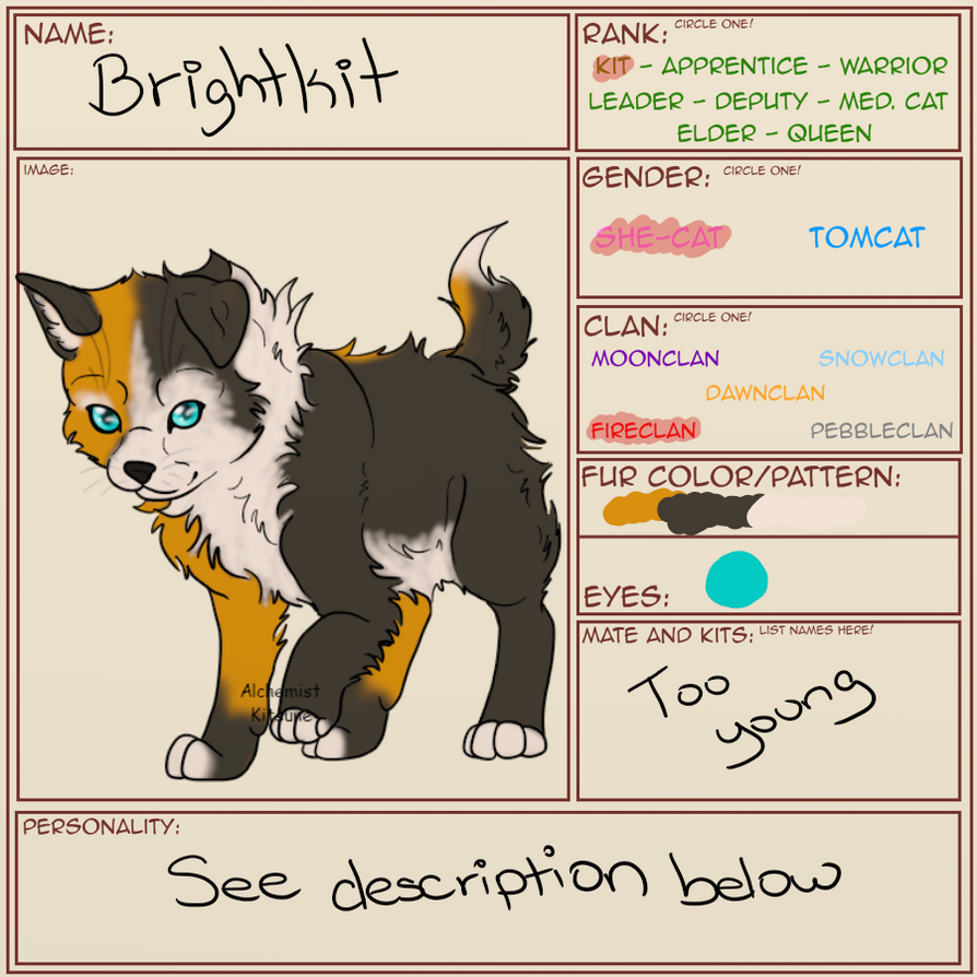 Brightkit | The Warriors Guild | Character Sheet by ...
