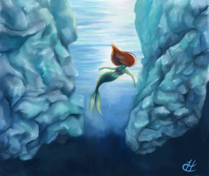 Glacial Rose: The Little Mermaid by hypercrabby