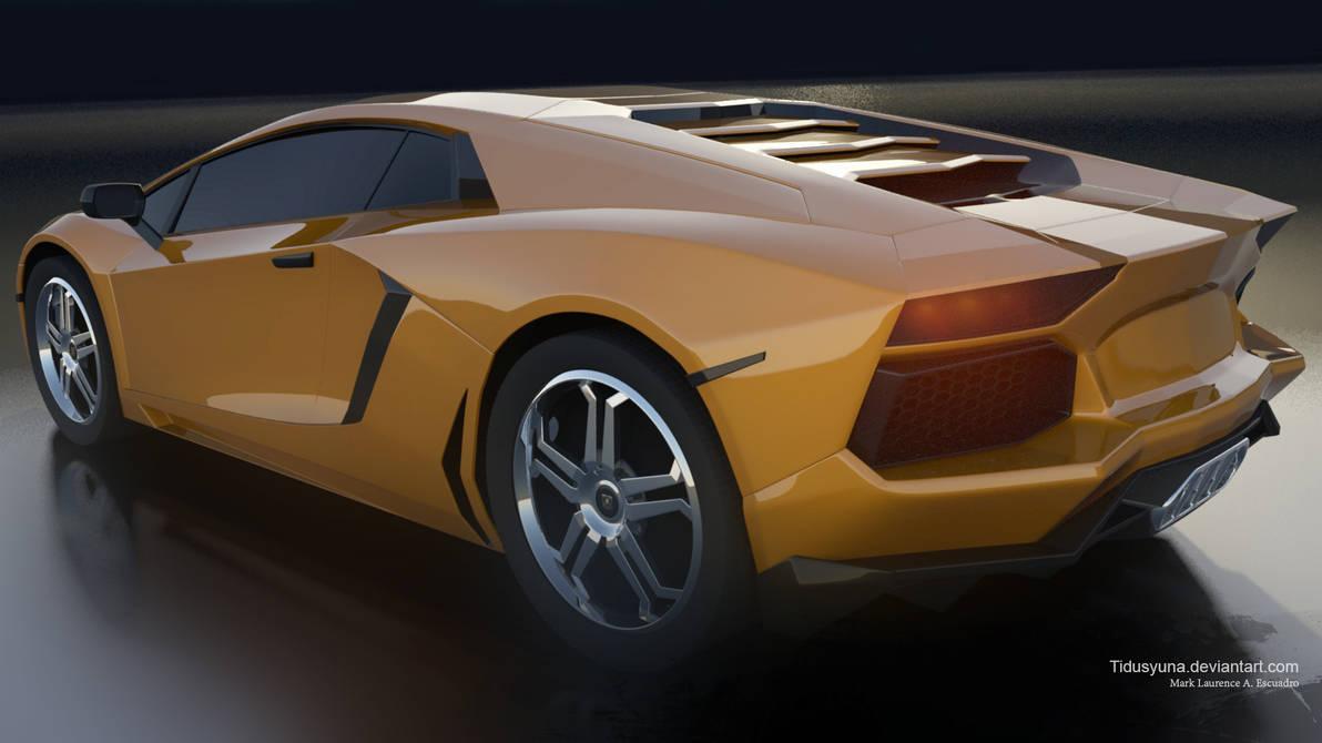 Lamborghini Aventador 2011 Backside By Tidusyuna On Deviantart