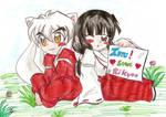 Inuyasha And Kikyou Chibi