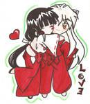 Inuyasha and kikyou MasInuKyo
