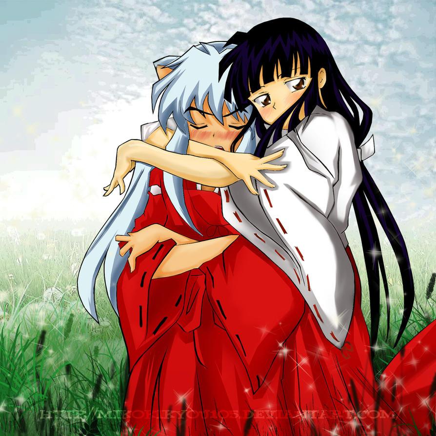 Kya- InuKyo Hug Color Ps by MikoKikyou105