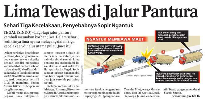Grafis Kecelakaan Pantura by usmany