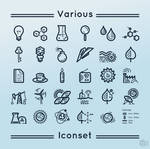 Various iconset by m-1981