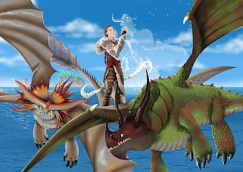 my favorite duo of how to train your dragon by ilustradorjoaosegura