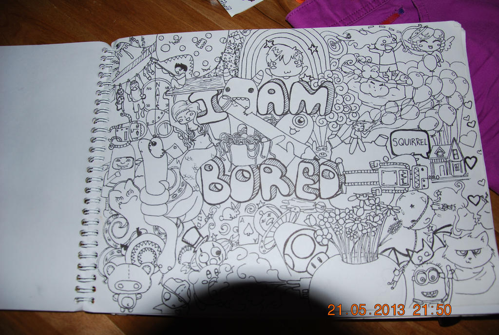 39 i am bored 39 doodle by lilmoi24 on deviantart for What to doodle when your bored