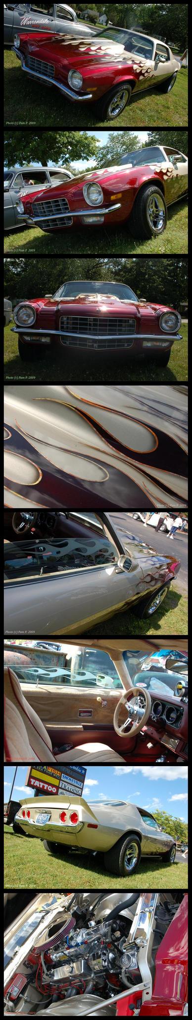 Supercharged 73 Camaro by ladylucrezia