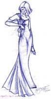 Fashion sketch by ladylucrezia