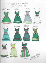 Orva's Green Color Motifs
