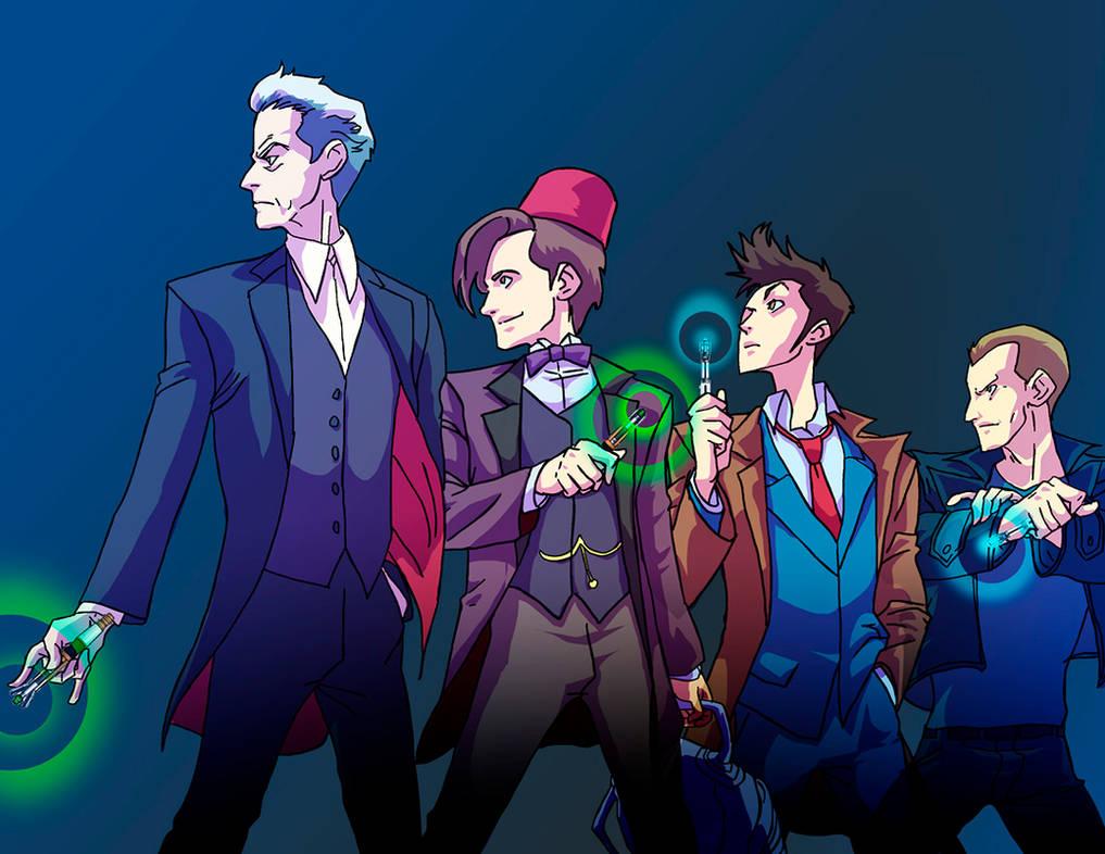 Doctor WHO 10th Anniversary by Kokoricosas