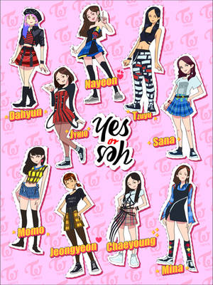 Twice (Yes or Yes) Stickers by Kokoricosas