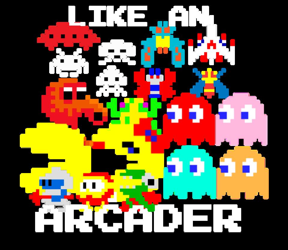 Like An Arcader (tee design)