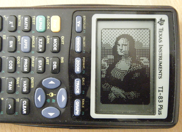 Mona Lisa on a TI-83