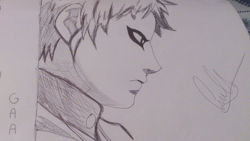 Naruto series  Gaara drawing by Lechrisnico on DeviantArt