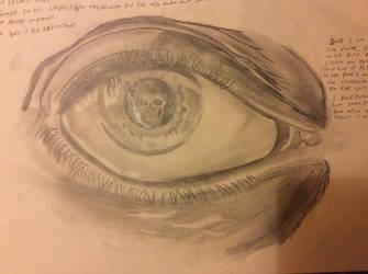 HATT3R draws: M.C. Escher's 'Eye' by D3AD-MAD-HATT3R