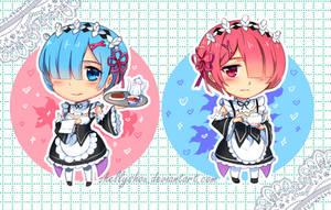 Re:zero - Rem and Ram by chellyshou