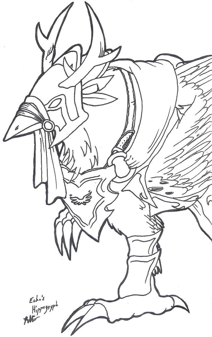 buckbeak coloring pages - hippogriff buckbeak drawings sketch coloring page