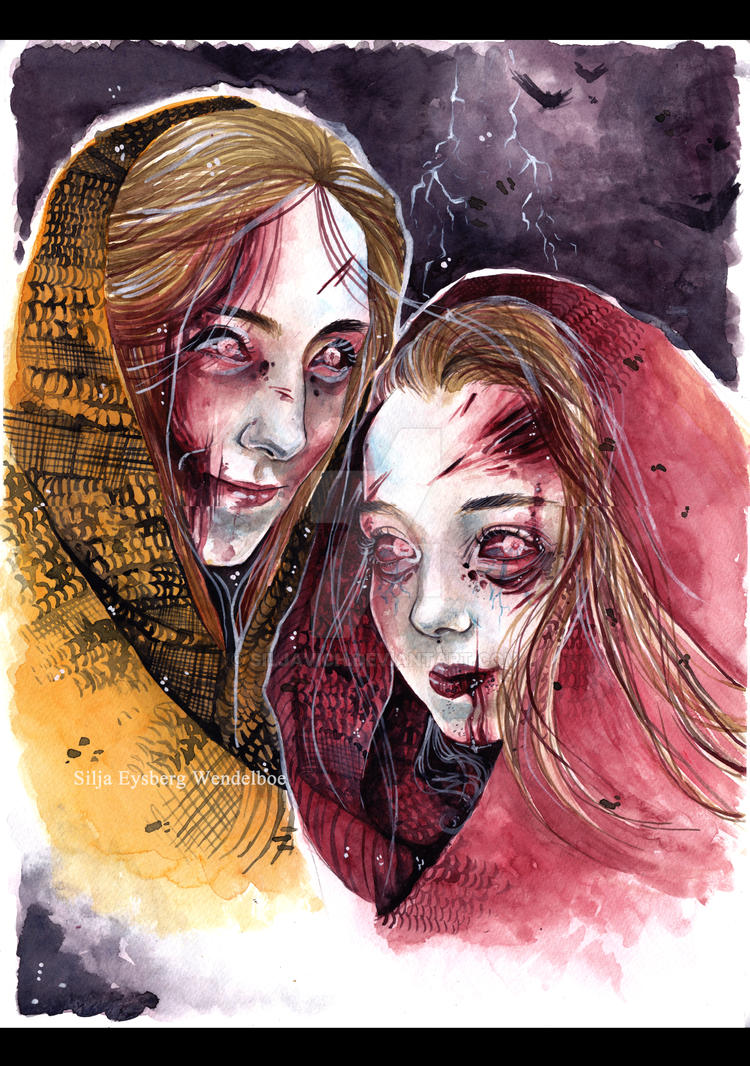 Bjoerk and sis as zombies by SiljaVich
