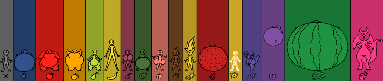 Different types of fruit tf's (updated version)