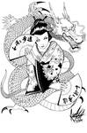 Geisha and Dragon