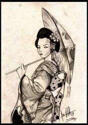 Umbrella Geisha by caiojhonson