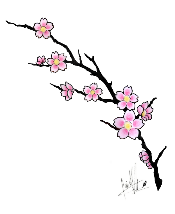Cherry Blossom Tattoo Design - flower tattoo