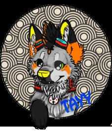 Tayy badge by SpiritPaintedWolf