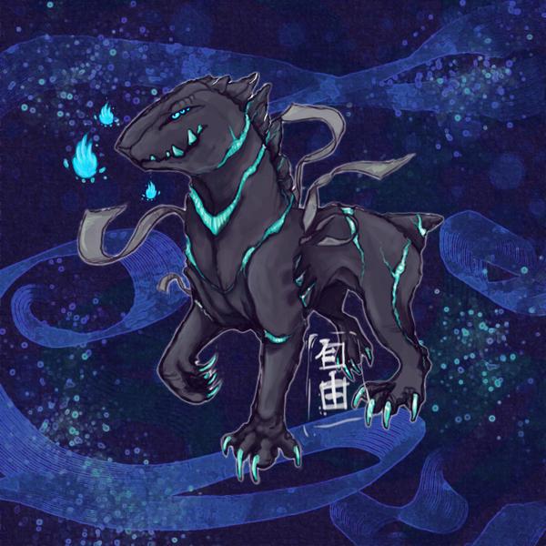 Ren'ksha rare blue blood by SpiritPaintedWolf