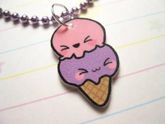 Kawaii Ice Cream Necklace by JennyLovesKawaii